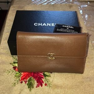 Authentic Chanel large wallet